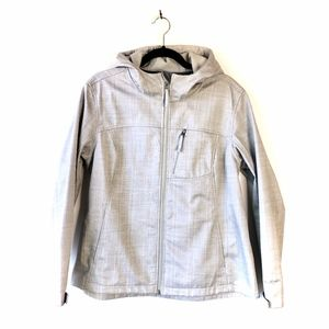 Free Tech gray lightweight hooded jacket XL